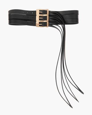 Picture of Eyelet-embellished Suede belt